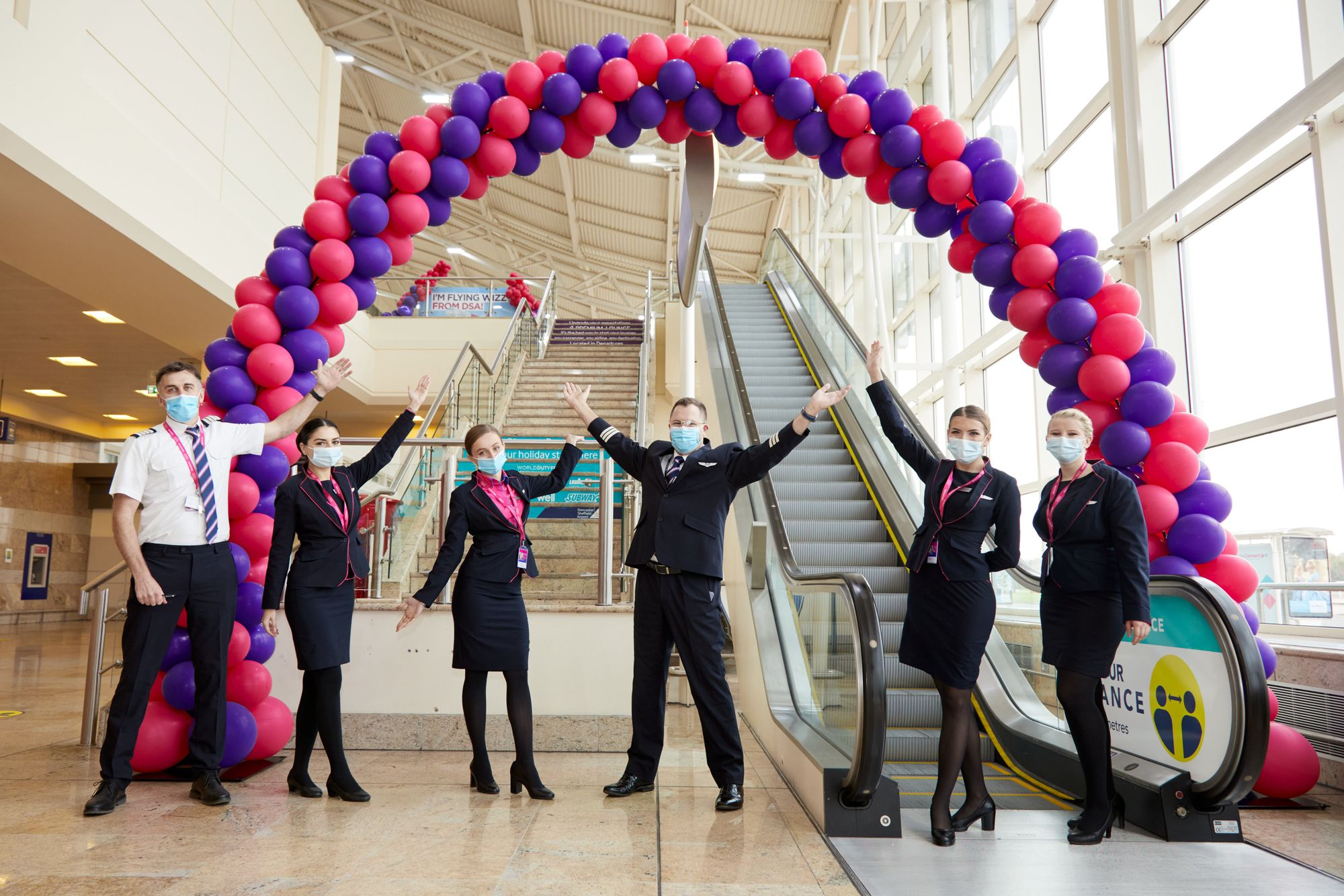 Wizz-Air-Cabin-Crew-at-Doncaster-Sheffield-Airport-