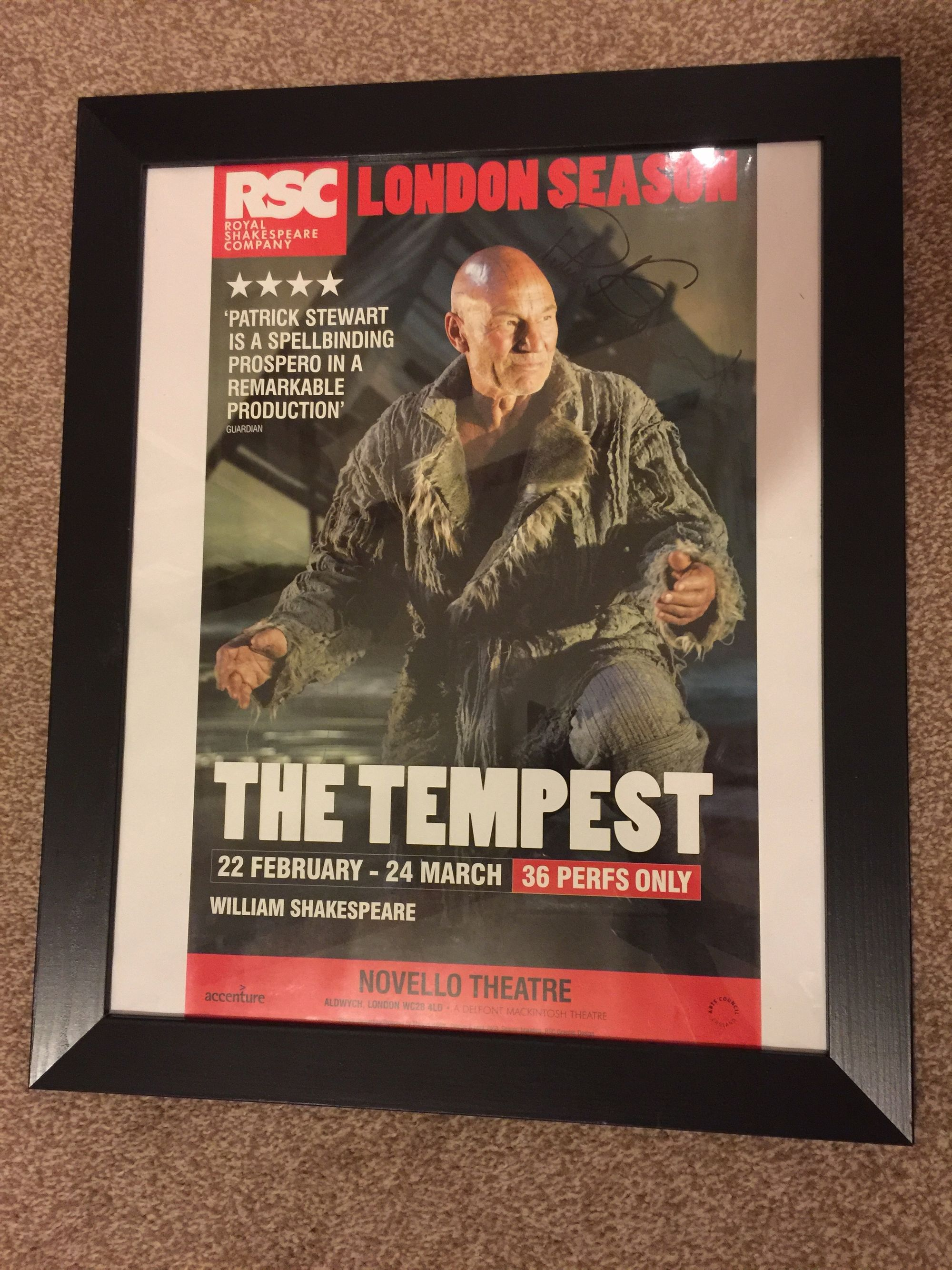 Patrick-Stewart-signed-poster-in-frame